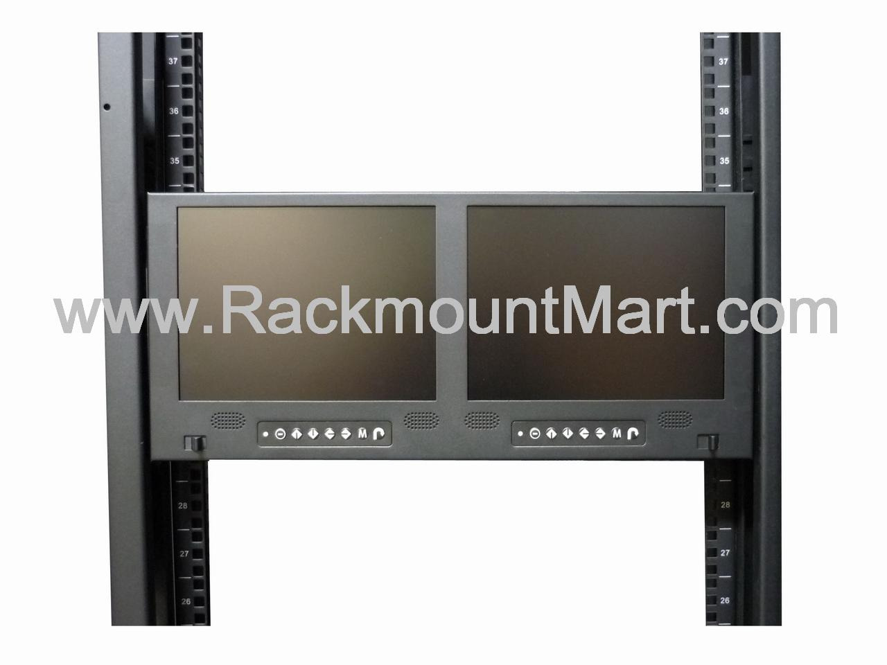 Rackmount Dual Lcd Led Monitor Dual Rack Mount Tft