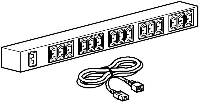 rack pdu  basic  zero u  16a  208  230v   15  c13