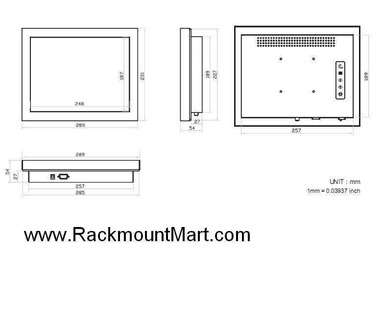 industrial flat panel display - chassis display