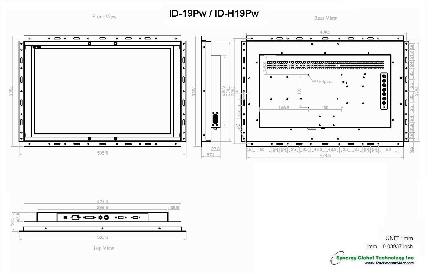 Industrial Flat Panel -open Frame Wide Screen Lcd