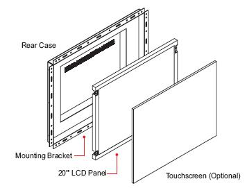20 Inch LG Open Frame Monitor - ID-20P