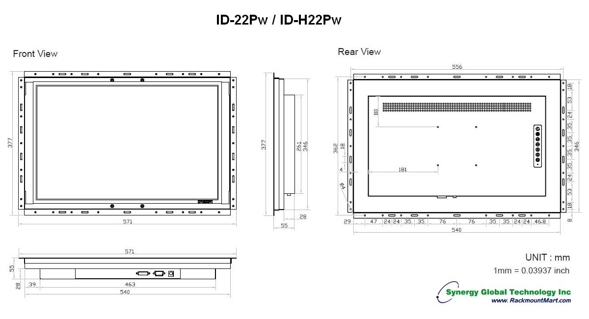 Industrial Monitors Open Frame Wide Screen Lcd Monitor