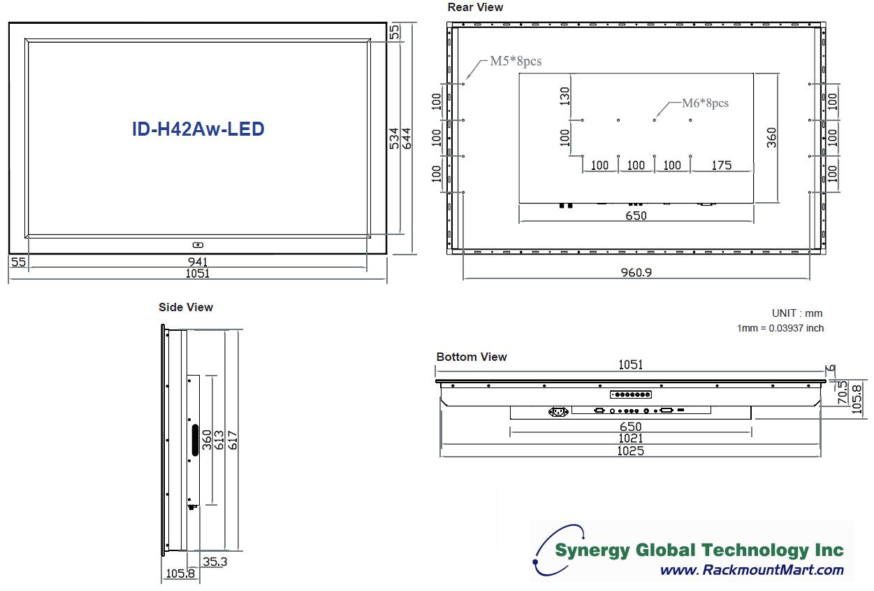 Industrial Lcd 42 Quot Widescreen High Brightness Panel