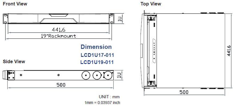 Lcd1u19 013 Sun Solaris Compatible 1u Rackmount 19 Quot Lcd