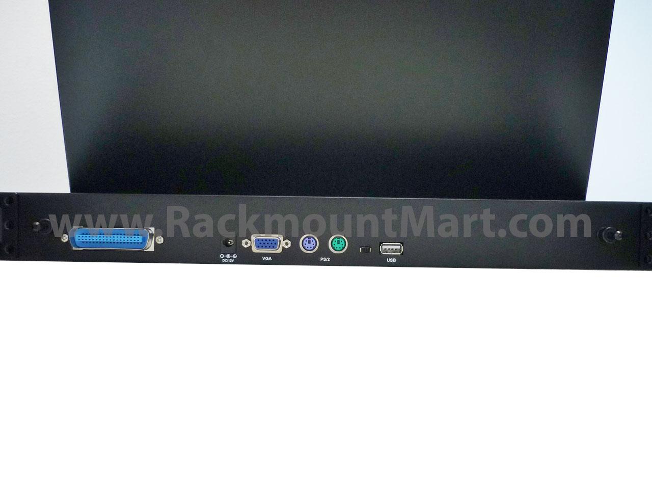 1U Dual rail NOVA 19 widescreen LCD console with modular KVM