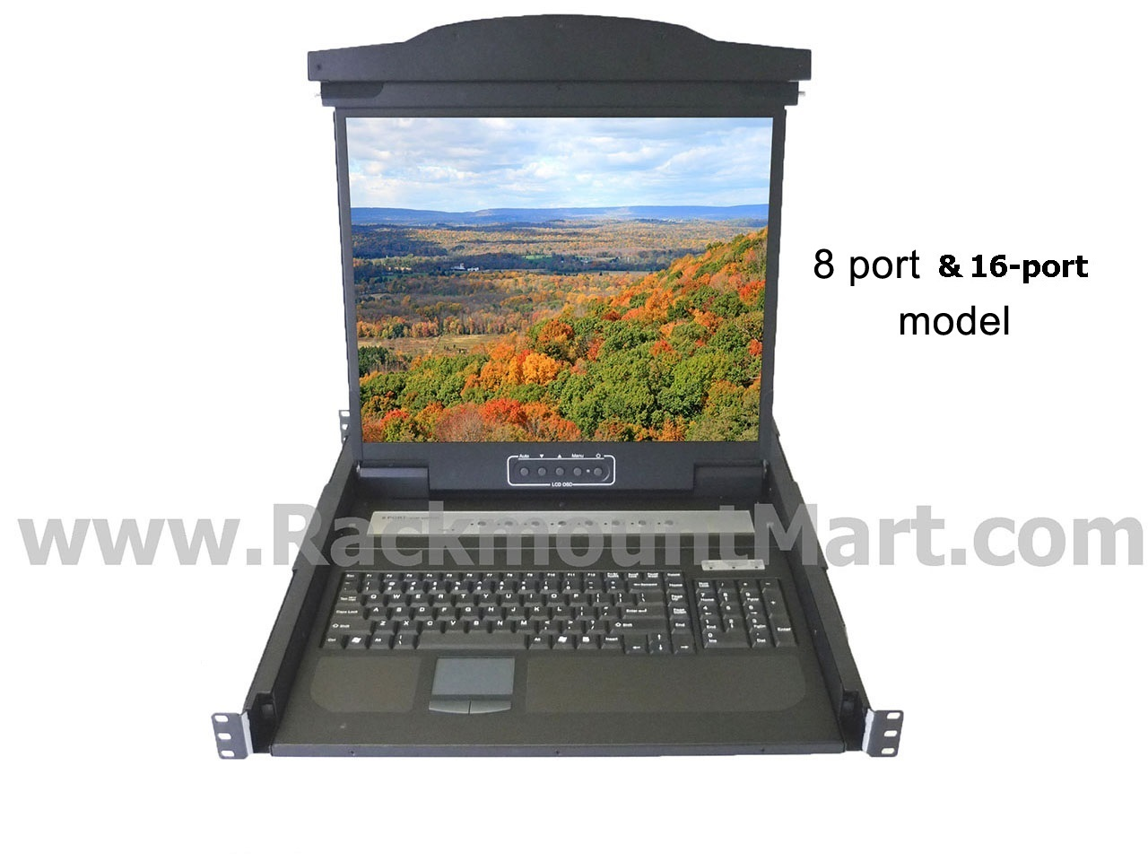 Rack Mounted Lcd Keyboard Kvm Nova Lcd1u19