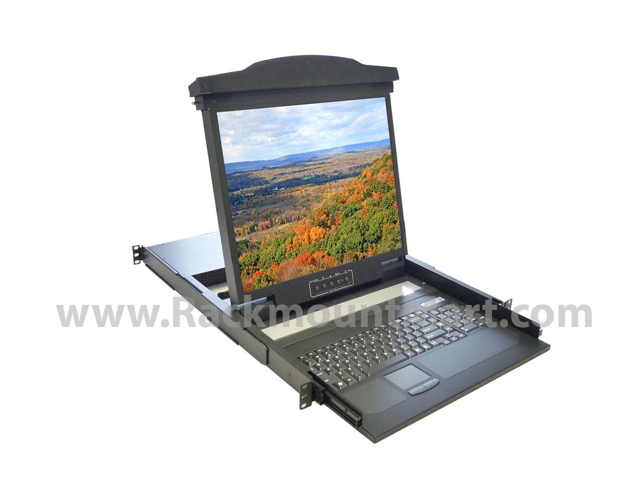 Rack Mounted Lcd Keyboard Kvm Nova Lcd1u19 17