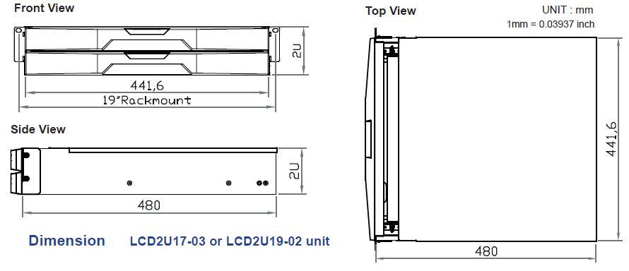 LCD2U17-04 SUN KVM 17