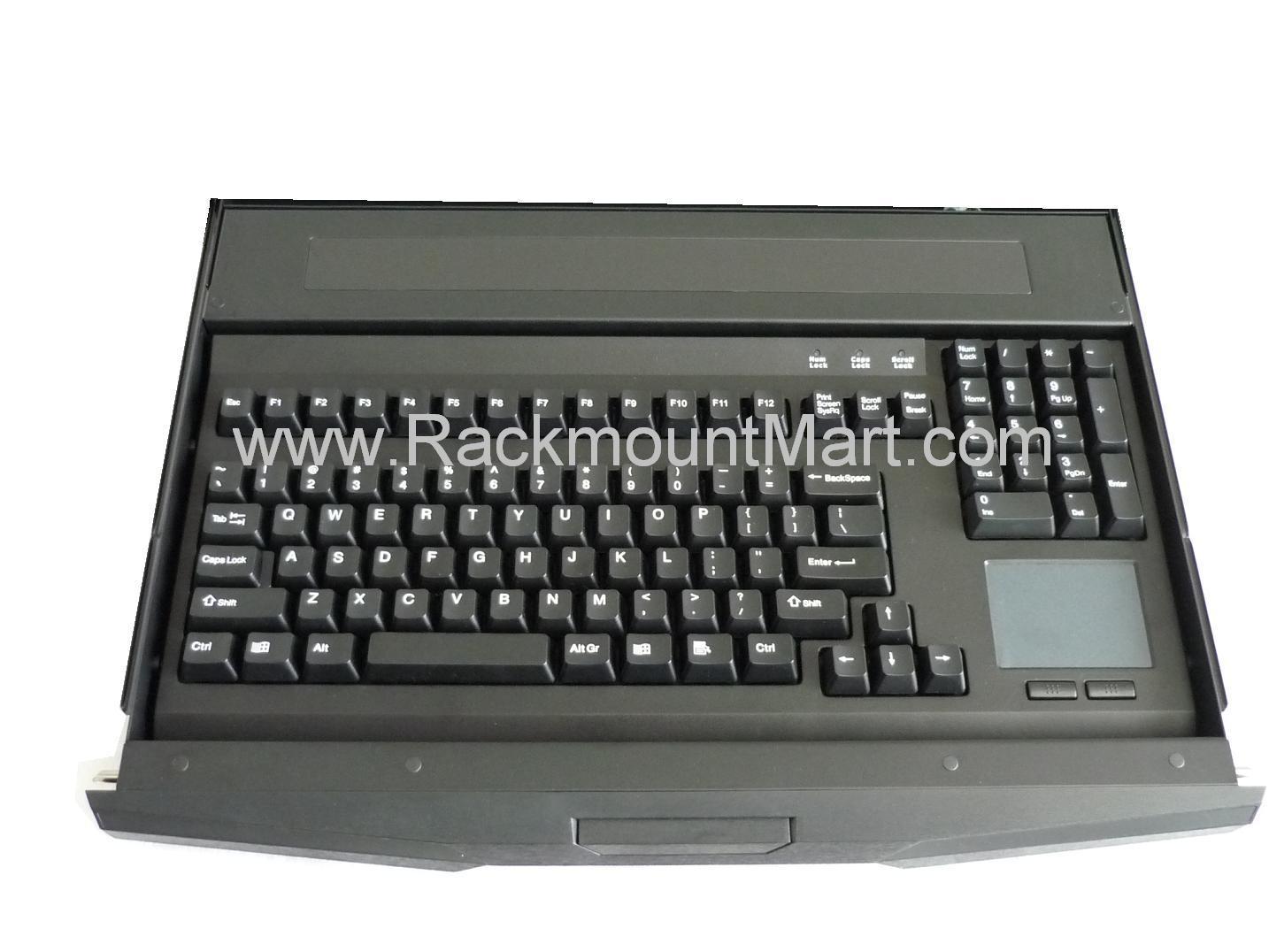 Lcdk1002 1u Rackmount Keyboard With Front Lock Optional