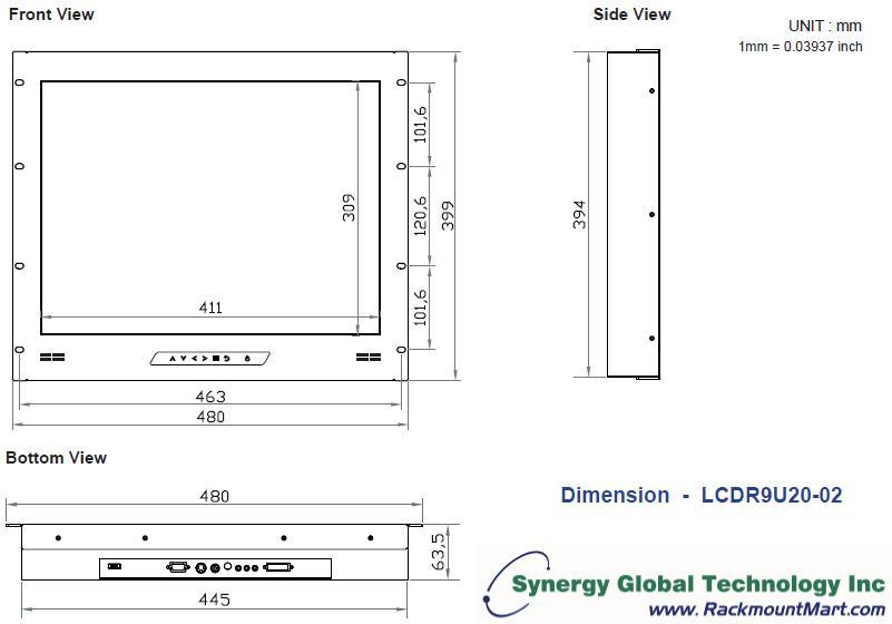 Lcdr9u20 02 Sun Solaris Compatible 9u Rack Industrial