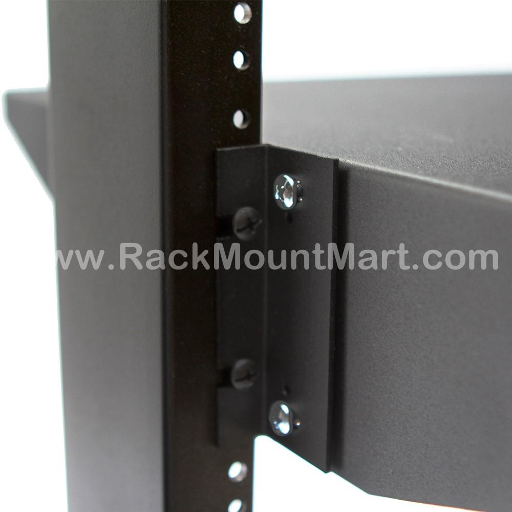 2u Black Steel Solid Shelf Centerweight 19in X 19in